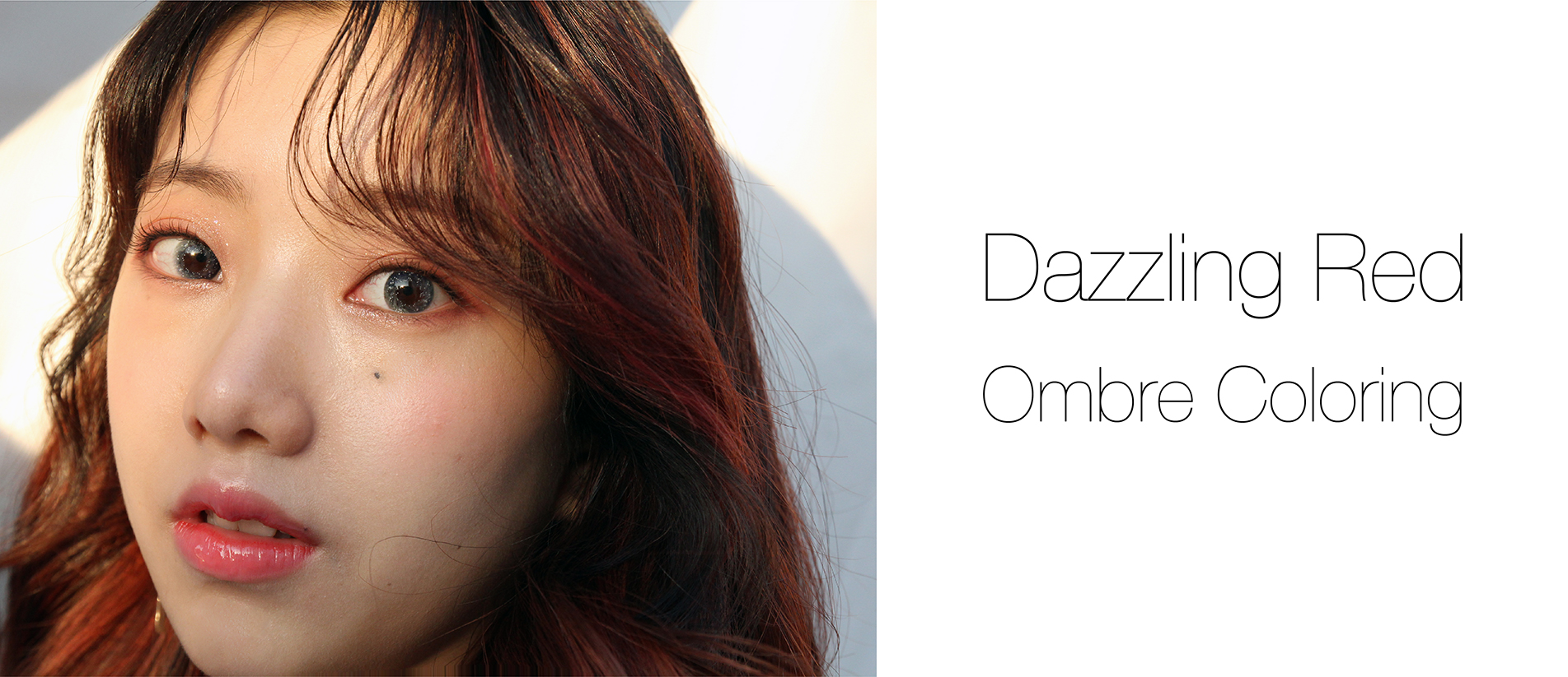 Dazzling Red Ombre Coloring
